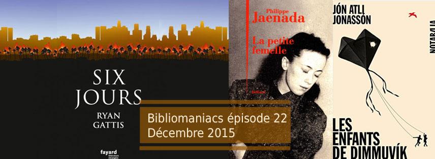 Couverture émission 22 avec la petite femme de Philippe Jaenada