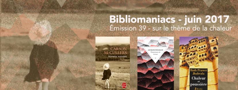 Affiche de l'émission de juin 2017 des Bibliomaniacs
